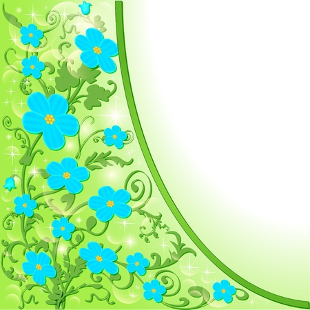 illustration of the background with blue flowers Stock Vector - 18657866