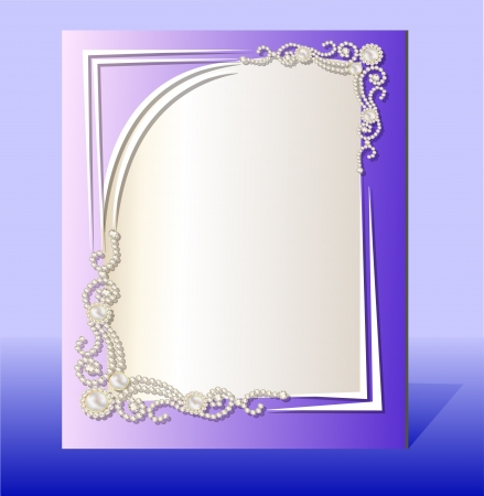 illustration frame for photo with precious stones Vector