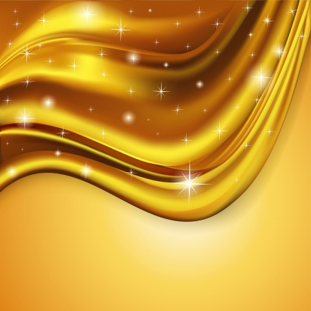 illustration of the background fabric satin gold Vector