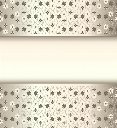 revivalism: illustration background frame with flowers of silk with metal luster