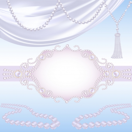 illustration wedding background with jewels for invitation Vector