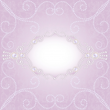 illustration of a pink background with jewels for invitation Stock Vector - 21025956