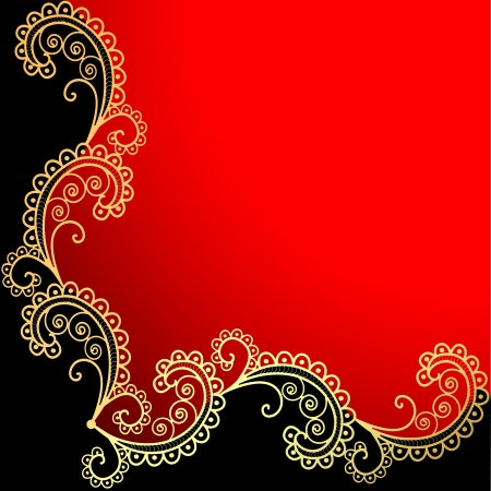 illustration background with the frame with gold ornamentation Vector