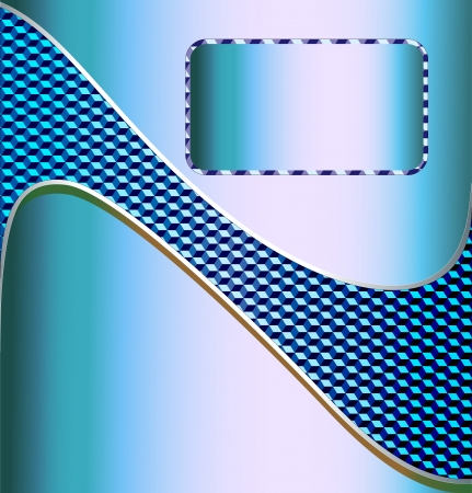 carpet and flooring: illustration blue metallic technical background for text with the wave of a cubic texture