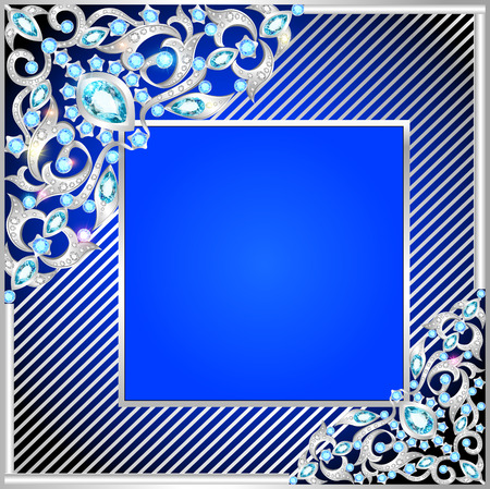 illustration background frame with jewels of ornaments  Vector