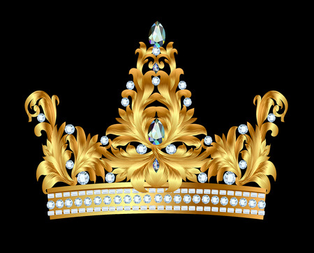 clr: illustration of royal gold crown with jewels