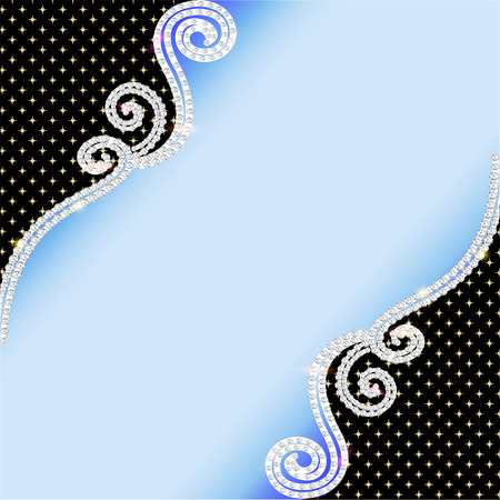 precious metal: illustration background with swirls and  precious stones Illustration
