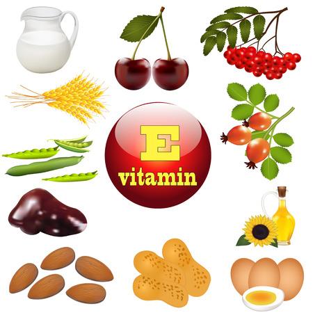 illustration de la vitamine E de l'origine des aliments d'origine végétale