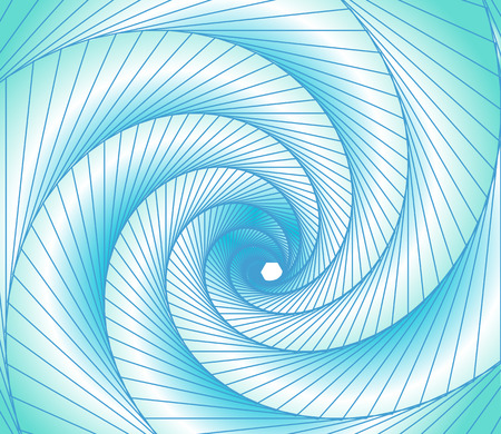 graphic arts: illustration light blue spectrum background spiral and lines