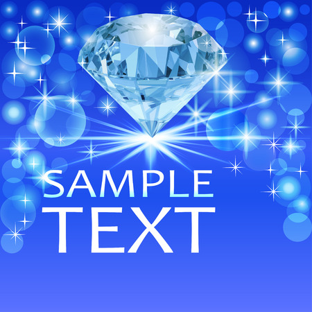 diamond background: illustration background with bright shiny diamond and place for text
