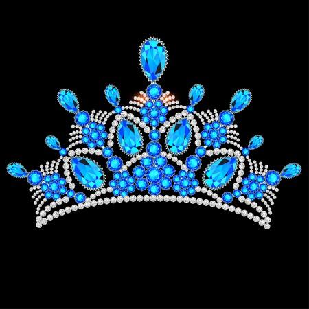 precious stones: illustration crown tiara women with glittering precious stones
