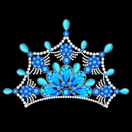 piedras preciosas: mujeres ilustraci�n corona tiara de brillantes piedras preciosas Vectores