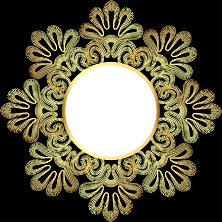 gold lace: illustration background with gold lace and place for text