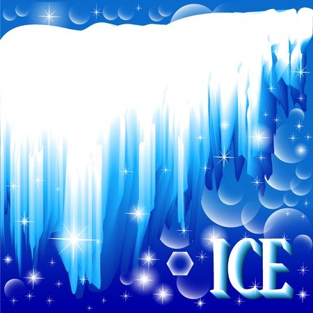and brilliant: illustration background with brilliant ice and inscription