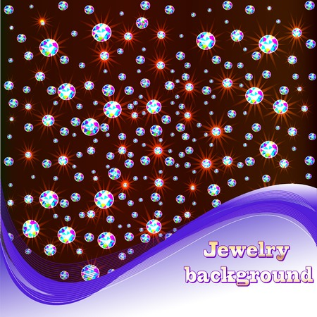 precious stone: illustration background with shiny precious stones and place for text
