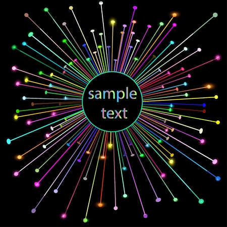 laser lights: illustration abstract background with shiny star and place for text