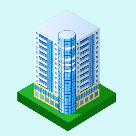 storey: illustration of multi storey building in perspective
