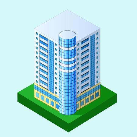 multistorey: illustration of multi storey building in perspective