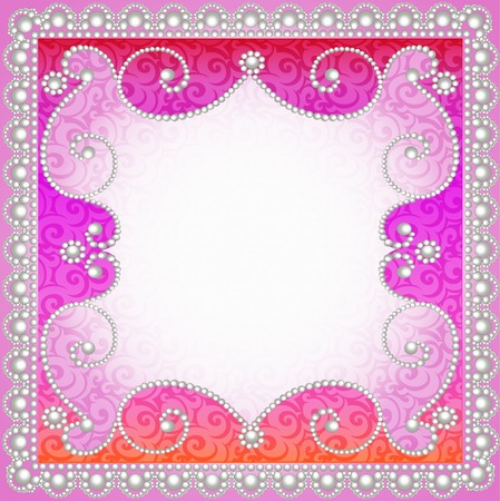 ornamented: illustration background with vintage  ornamented with pearls