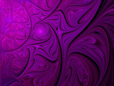flower power: fractal illustration purple ornament yarkiys of the waves and spirals