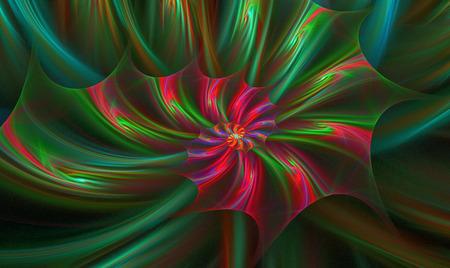 flower power: illustration background with a spiral fractal bright flower