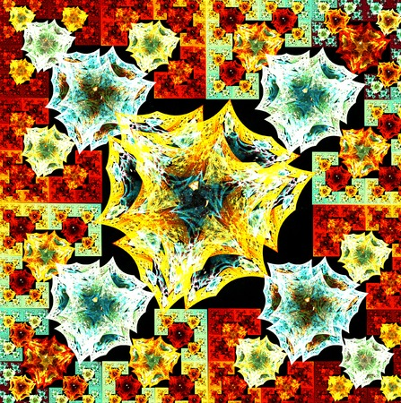 carpet flooring: fractal illustration background bright carpet with geometric designs