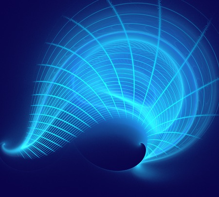 technical background: fractal illustration of a technical background with squares and lines wave