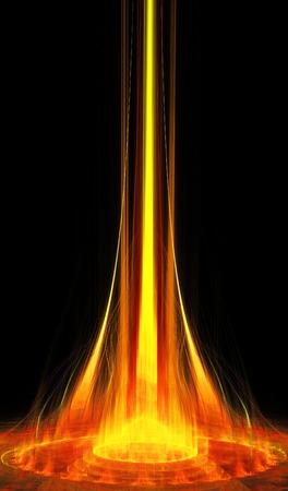 nights: fractal illustration of a fiery portal nights