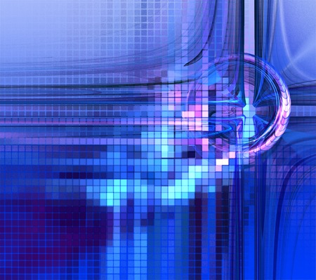 composition art: Illustration abstract technology background with squares and circles Stock Photo
