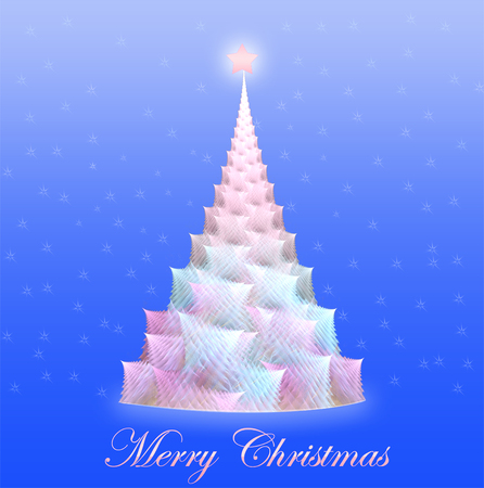 uncultivated: fractal illustration of a Christmas background with a tree Stock Photo
