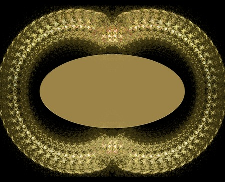 ringlet: illustration jewelry fractal background frame with jewels Stock Photo