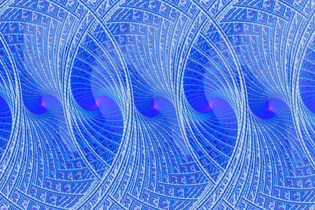 blue spiral: illustration of a fractal background blue spiral ornament