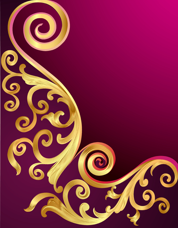 whorl: illustration background with gold pattern and whorl