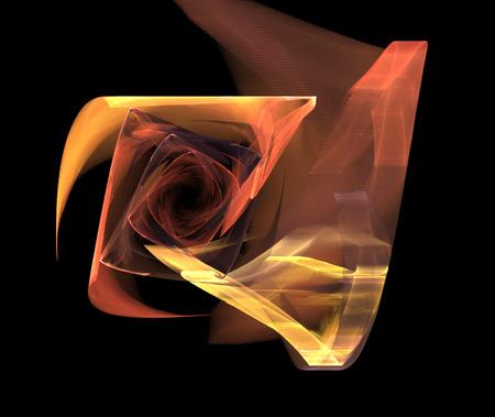 illustration background with a spiral fractal bright flower Stock Illustration - 53518008
