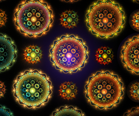 fractal background: Illustration of an abstract fractal background with a geometrical pattern