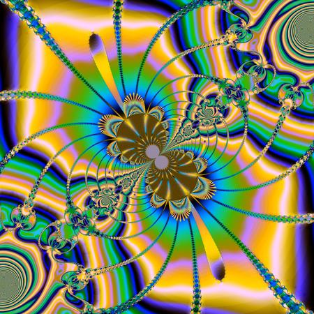Colorful fractal floral pattern, digital artwork for creative graphic desig