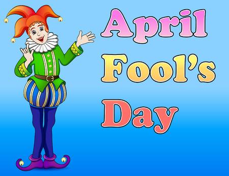 april: An illustration of a jester April Fools Day Illustration