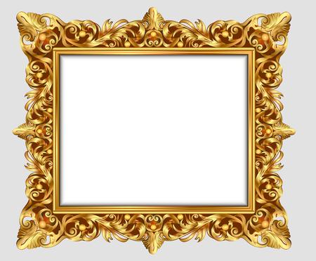 incisione vendemmia cornice illustrazione confine con ornamento retrò nel design decorativo antico stile rococò
