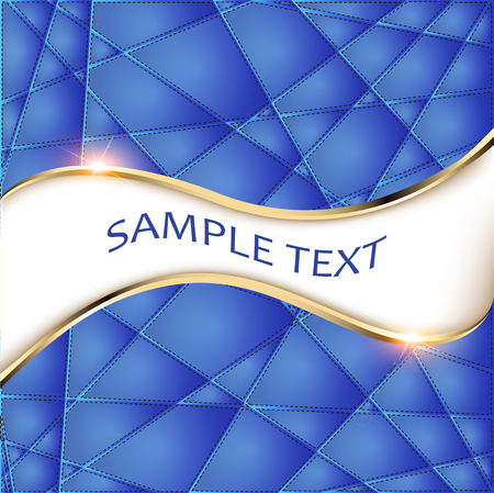 triangle pattern: Illustration of abstract polygonal background triangles with space for text Stock Photo