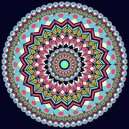 lasercutting: illustration round Ornament Pattern. Geometric circle element