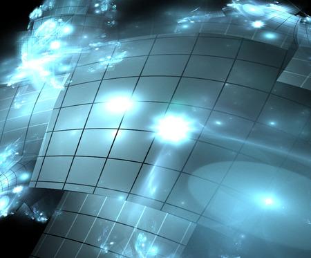 panels: abstract illustration background fractal technical solar panels