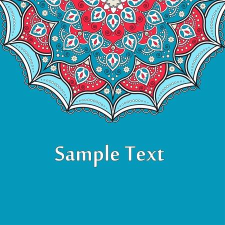 easily: Ethnic  Colorful Henna Mandala design, very elaborate and easily editable