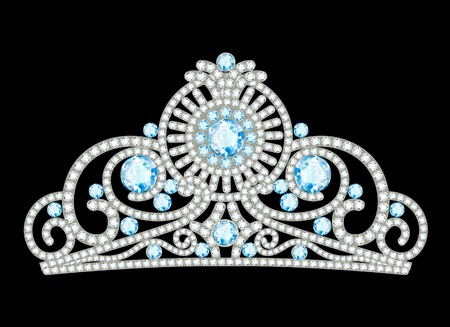 beauty queen: Illustration of beautiful female diadem with precious stones