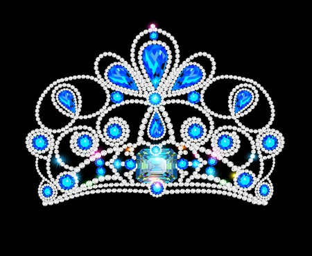 stage costume: illusillustration crown tiara women with glittering precious stonestration crown tiara women with glittering precious stones
