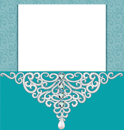 vignettes: illustration Vintage background with a pattern of precious stones.