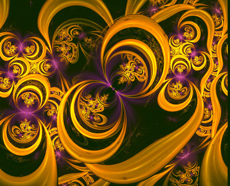 digital art: Colorful Fractal Background. A fractal is a natural phenomenon or a mathematical set that exhibits a repeating pattern that displays at every scale.