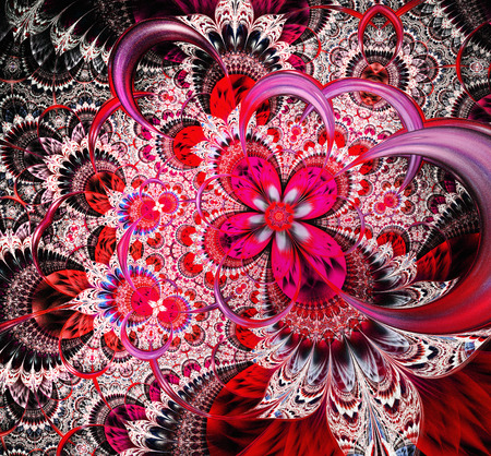 fractal background: Abstract fractal floral lace background. A fractal is a natural phenomenon or a mathematical set that exhibits a repeating pattern that displays at every scale.