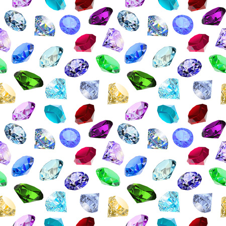 precious stone: illustration seamless background with glittering precious stones Illustration