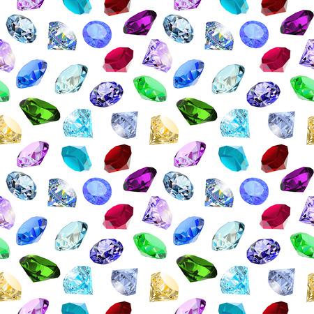 pietre preziose: illustrazione sfondo trasparente con scintillanti pietre preziose