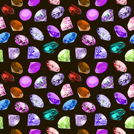 illustration seamless background with glittering precious stones Illustration